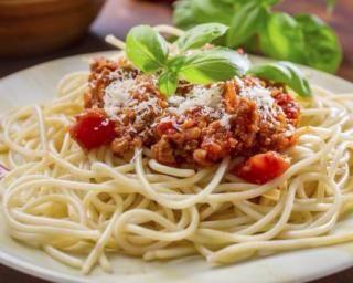 Spaghettis bolognaise au vin blanc