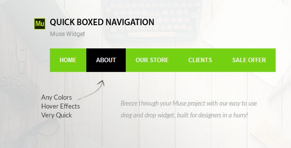awesome Boxed Navigation | Adobe Muse Widget (Muse Widgets)