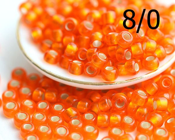 8/0 Toho Seed Beads N 30BF Silver Lined Frosted Hyacinth 10g