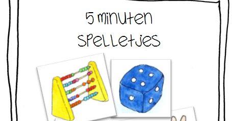 Kleuterjuf in een kleuterklas: 5 minuten spelletjes   REKENEN