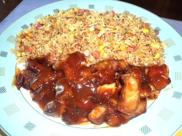 Nu maakten we al eens Babi Pangang Spek met paksoi en nasi van speklappen, maar we maakten nooit eerder laat maar zeggen 'gewone' Babi Pangang dat je bij de Chinees krijgt bij nummel 47…