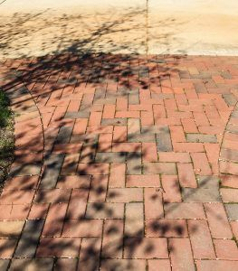 Pine Hall   Exterior makeover with clay paver walkways, steps and drives