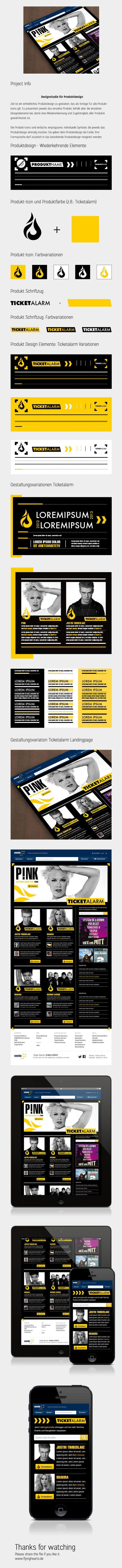 Product Design - Ticketalarm - Corporate Design by Melanie Grote, via Behance