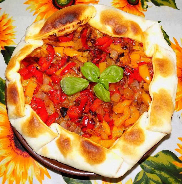 Tortino peperoni e cipolle | Le mani in pasta