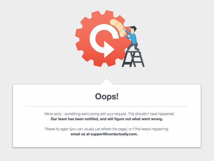 Contactually error