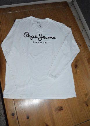 À vendre sur #vintedfrance ! http://www.vinted.fr/mode-hommes/t-shirts/30268910-tee-shirt-manches-longues-homme-pepe-jeans-xxl