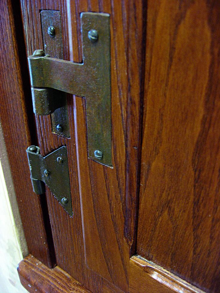 cerniere codette ad incasso  in ferro battuto per finestre