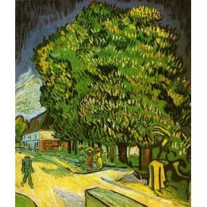 Chestnut Trees in Bloom V VanGogh Oil Painting  www.OverArts.com