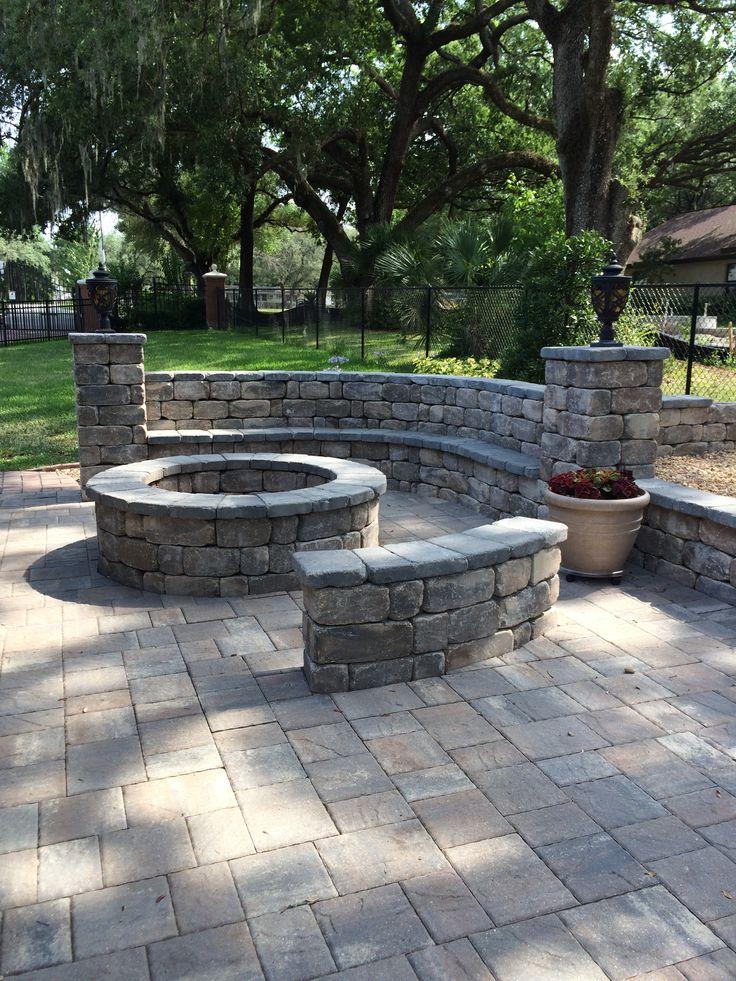 Brick paver fire pit 36 best Fire