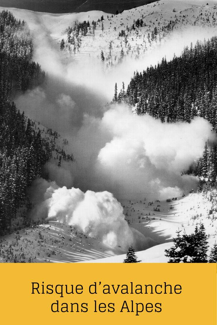 Risque d'avalanche dans les Alpes
