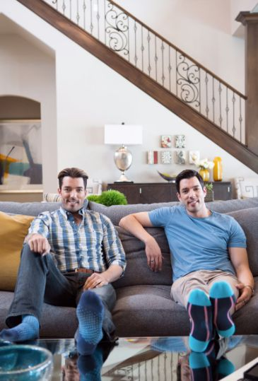 Jonathan and Drew Scott at home in Las Vegas.