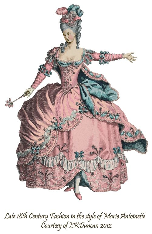 Theater Costume PNG from the time of Marie Antoinette in various colors by EKDuncan - http://www.ekduncan.com/2012/02/dancing-marie-2-fairy-queen-of-france.html- Marie Antoinette loli inspo