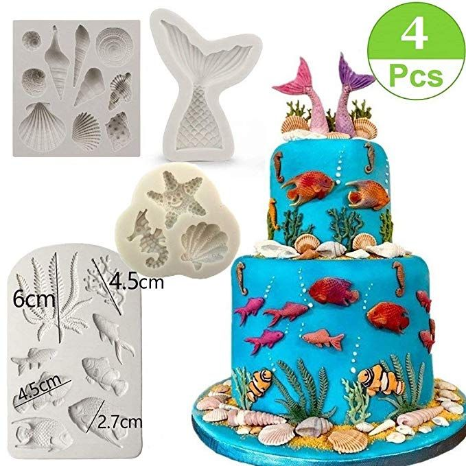 Fondant Pastry Making Baking Mould Cake Decorating Tools Ocean Silicone Mold