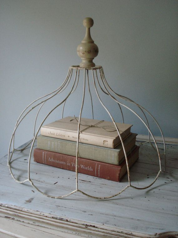 232 best ghost lampshade frames images on pinterest chandeliers vintage lampshade cloche by comfortablyvintage on etsy 3000 greentooth Gallery