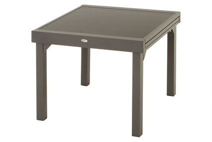 TABLE EXTENSIBLE PIAZZA. L90/180 x P90 cm x H75 cm