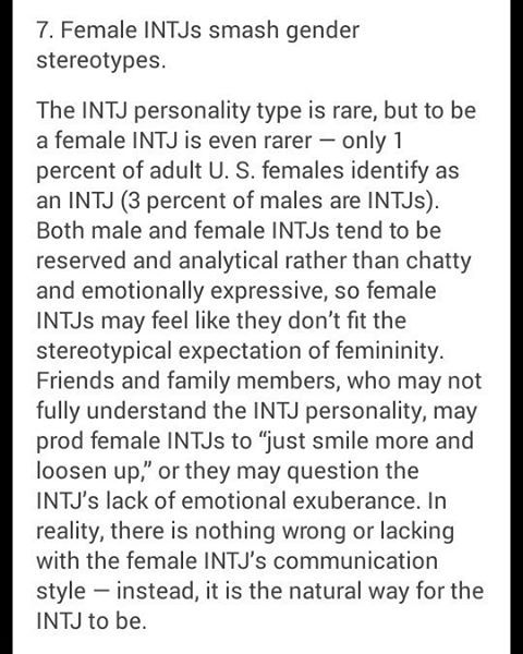 There is nothing wrong or lacking with the communication style of a female INTJ. It is normal for an INTJ. Some days you just need to be reminded of that.
