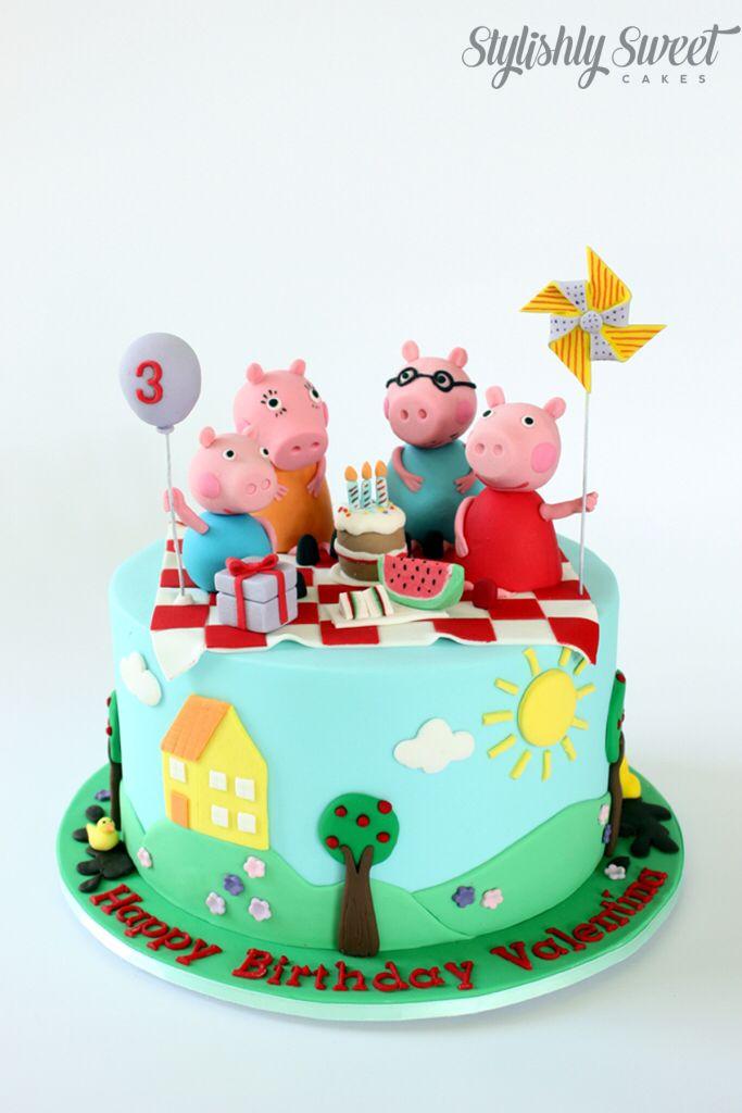 Peppa Pig picnic cake www.stylishlysweet.com.au