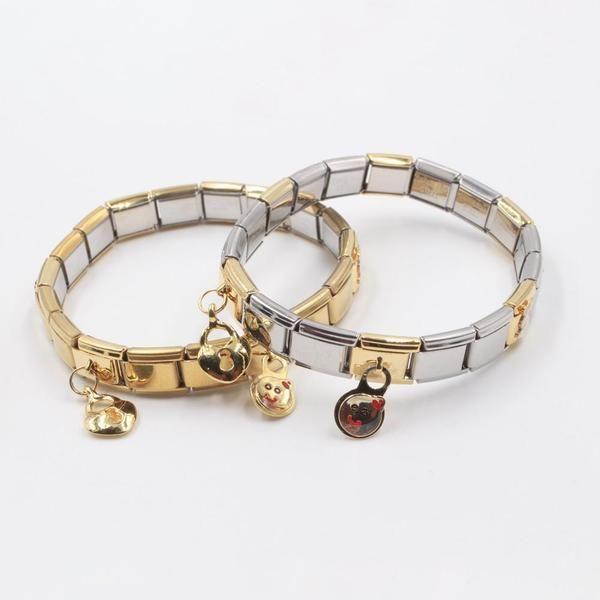 اسوارة نومنيشن ستانلس ستيل كي اند فيس Jewelry Accessories Bracelets Charm Bracelet