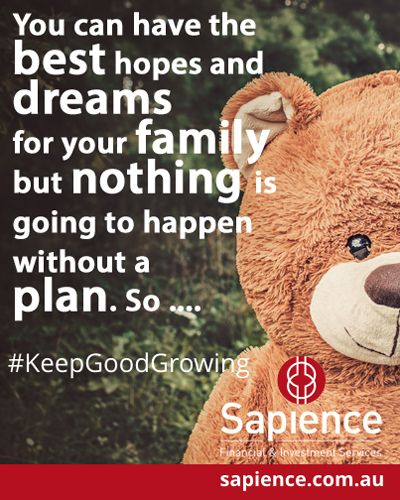 You can have the best hopes and dreams for your family but nothing is going to happen without a plan. So .... #KeepGoodGrowing