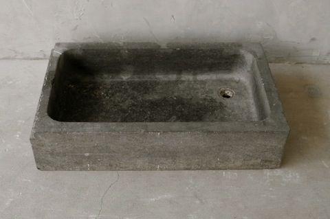 19th Century Belgian Blue Stone Sink from Antwerp via Chateau Domingue as seen on linenandlavender.net