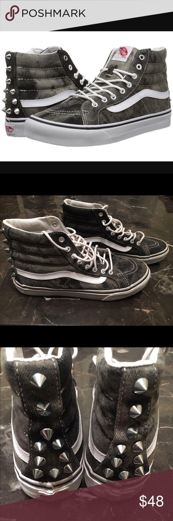 Vans sk8 hi top acid wash studded vans 7.5 Men's size 6 Womens 7.5 EUC Vans Shoes Sneakers