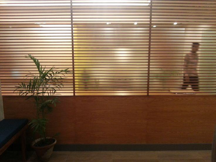 AKICT Office Reception #Screens #Transparency #Corporate #Wood #Design #Pakistan #Architecture #OpenDoorDesignStudio