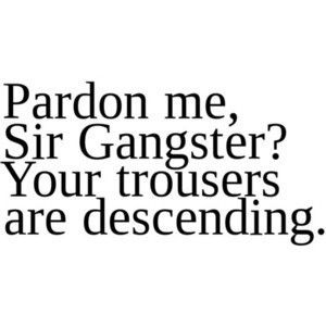 pardon me, sir gangster? I love this!: Sir Gangsters, Pardon, Laughing, Quotes, Pants, Pull Up, Funny Stuff, Things, British Accent