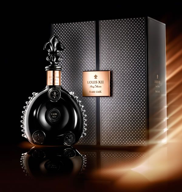 Rémy Martin Louis XIII cognac cask handcrafted in black crystal