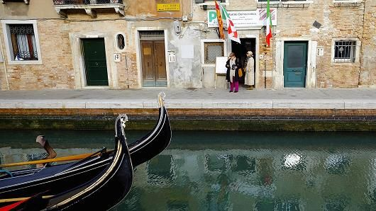Venice: Banning big cruise ships with no place to bring in tourists.