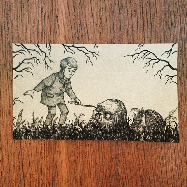 Poke it with a stick #johnkennmortensen #donkenn #monsters #sticktotheroads #artwork #drawing #creepy #scary #spooky