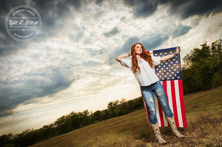 Madi Meyers - Stormy - Senior Portraits - Lone Star High School - Stunning - Senior Pictures - Love - American Flag - Country - Luscombe Farms - @neeneestiles - Cowboy Boots - Texas - Dallas Photographer - Senior Model Rep - #seniorpics - America - Redhead - Senior Outfit - Style - Country Style - Tyler R. Brown Photography