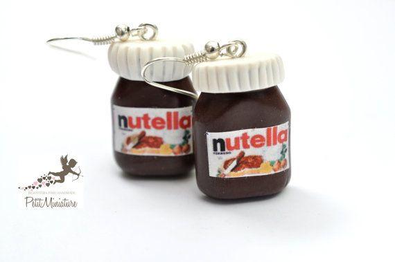 Orecchini Nutella di PetitMiniatures su Etsy