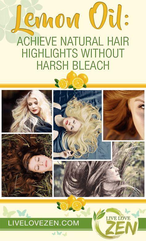 Lemon Oil: Achieve Natural Hair Highlights Without Harsh Bleach