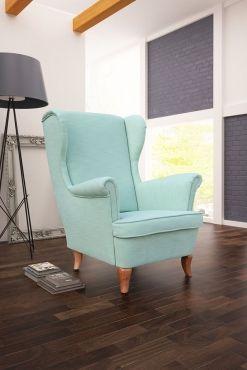 Miętowy fotel uszak od #internumpolska / Mint Chair