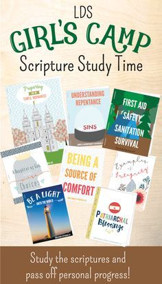 LDS girls camp scripture study time! These booklets are awesome for their personal scripture study PLUS they pass off Personal Progress!
