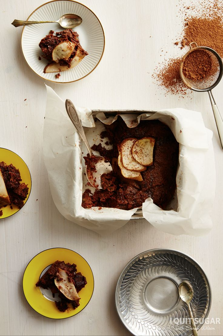 Zucchini Pear Brownies - I Quit Sugar: The Ultimate Chocolate Cookbook
