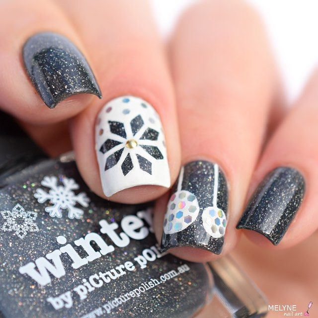 Christmas Ornament Inspired Nails