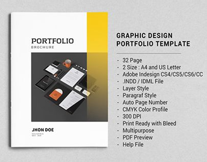 This Is 32 Page Minimal Brochure Template For Designers Working On Product Graphic Design Portfolios Interior Catalogues