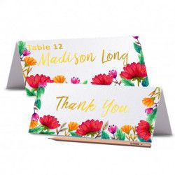 TENT CARDS Printed Place Cards Floral Wedding Place Card Peony Place card Editable Wedding Name Cards Food Labels Cards