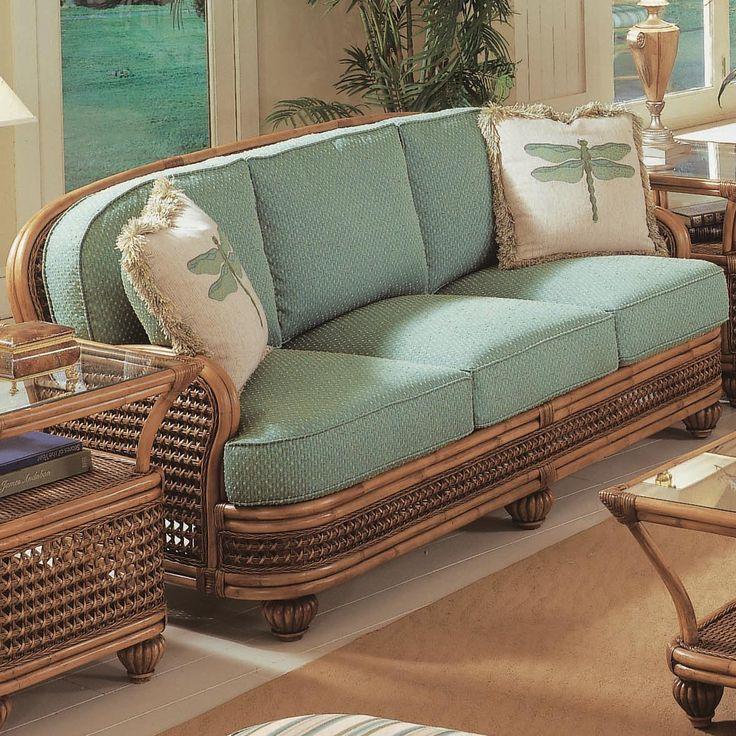 Vendor 10 Captiva Tropical Wicker Sofa With Turned Bun