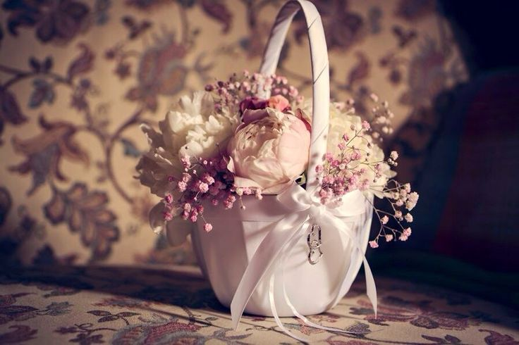 Flower girl basket by bronte bouquet