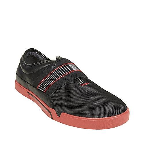 AKKIE BLACK RED men's casual sport casual slip on - Steve Madden.