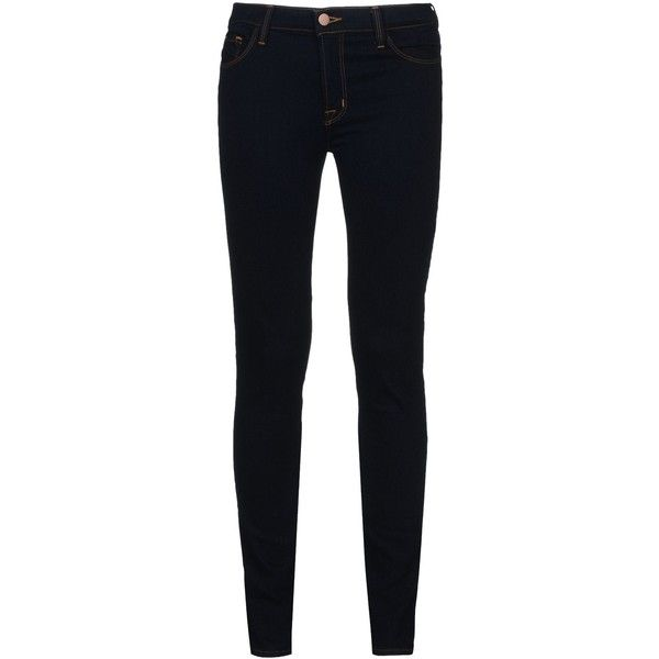 J Brand Denim Trousers (119.170 CLP) ❤ liked on Polyvore featuring pants, jeans, bottoms, 14. pants., blue, black skinny leg pants, j brand, blue skinny pants, black skinny trousers and skinny pants