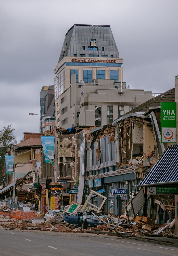 Damaged business district, Christchurch, NZ, 22 Feb 2011 <3
