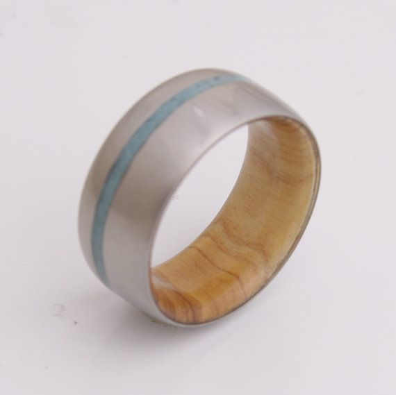 Wood Ring Titanium Ring Man Ring ring size 11 ring by aboutjewelry