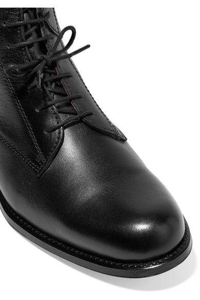 Ariat - Palencia Lace-up Leather Riding Boots - Black - US9.5