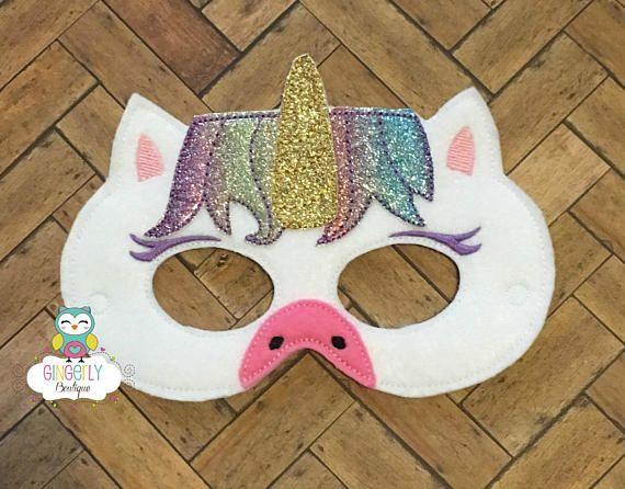 Unicorn Mask Kids Dress Up Mask Unicorn Costume Mask Wool