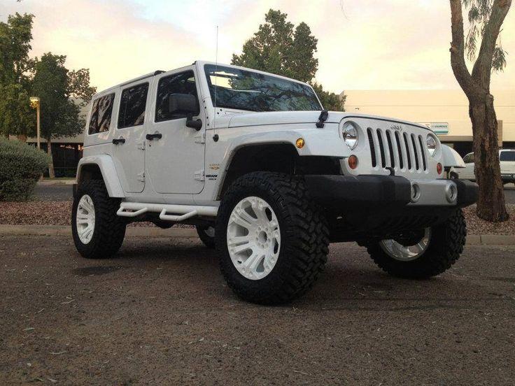 White Jeep, white wheels | Beep Beep it's a Jeep | Pinterest
