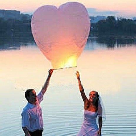 Lanterne celeste coeur Blanc