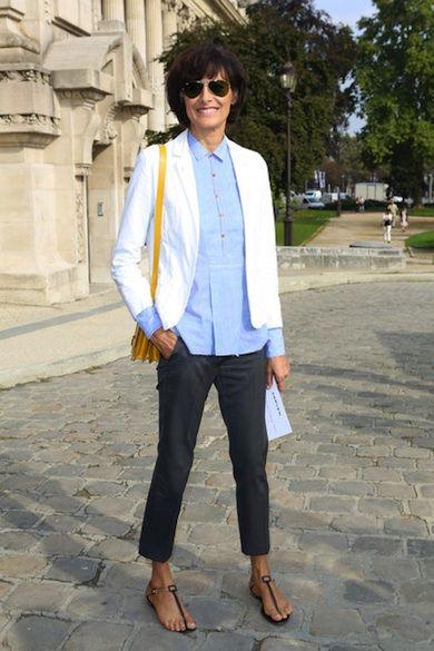 Ines de la Fressange Style 2013 Spring Carven Paris Fashion Week-02